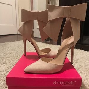 ShoeDazzle Chloee Blush Heels
